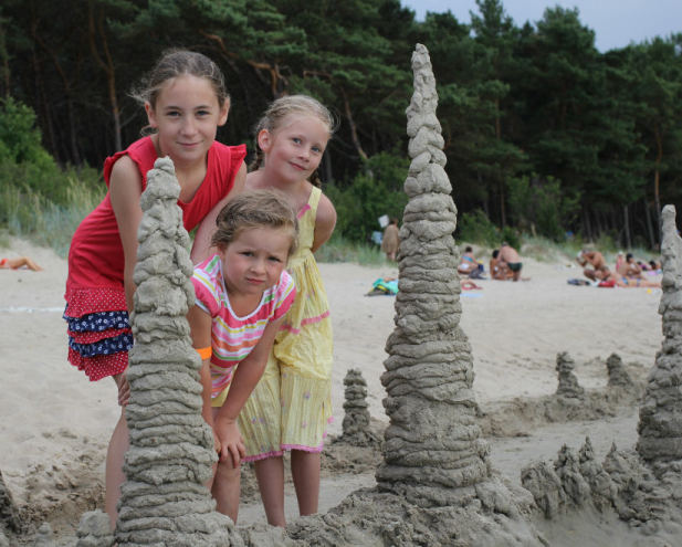 детски пясъчен замък