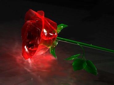 роза от стъкло