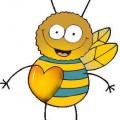 пчела любов валентинка