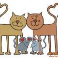 котка и мишка романтика любов валентинка