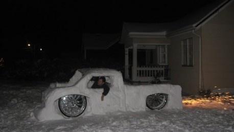 кола от сняг