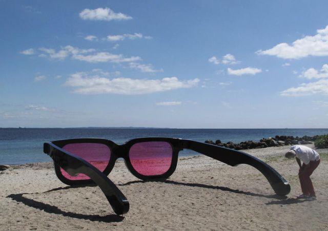огромни розови очила