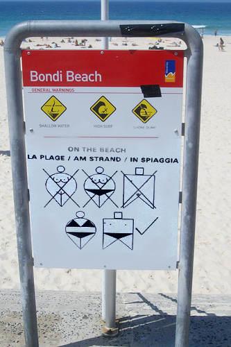 табели по плажа