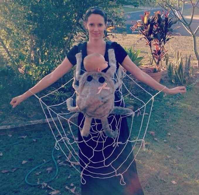 паяжина и паяк майка и дете костюм за хелоуин