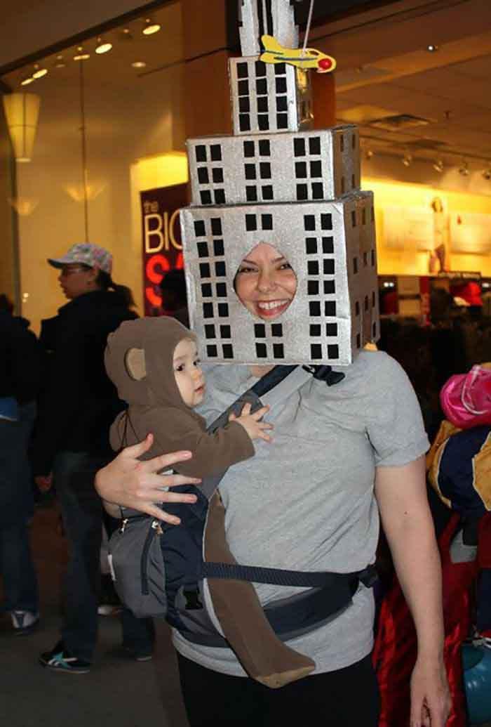 кинг конг костюм за майка и бебе