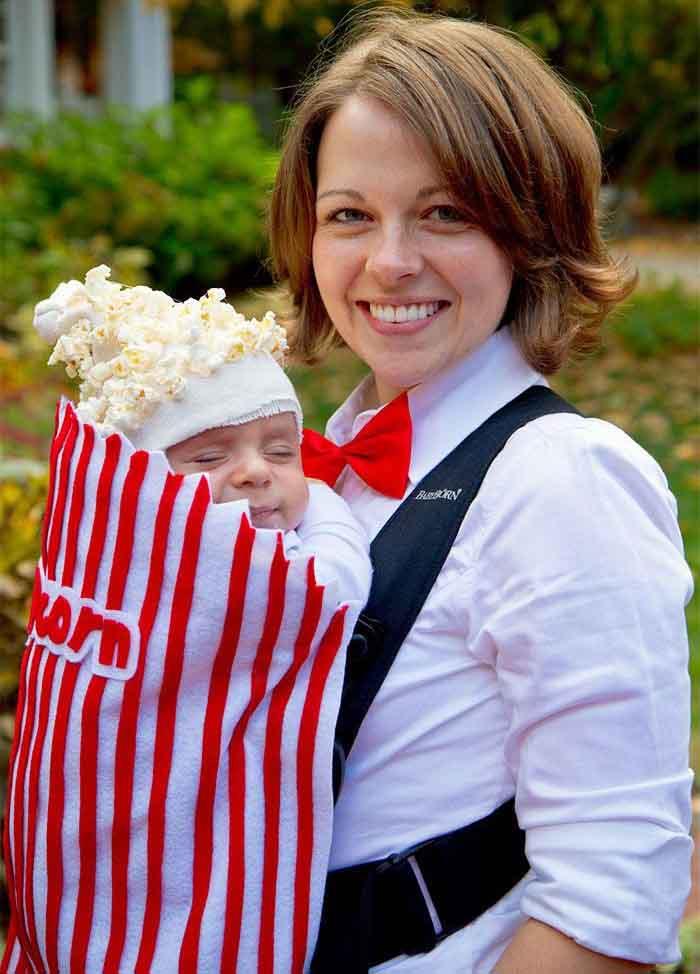 пуканки - костюм за майка и бебе за хелоуин