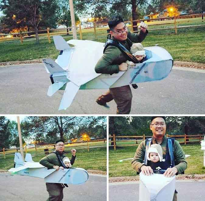 татко и син самолет и пилот карнавален костюм