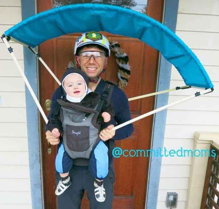 костюми за двойка татко и син парапланер