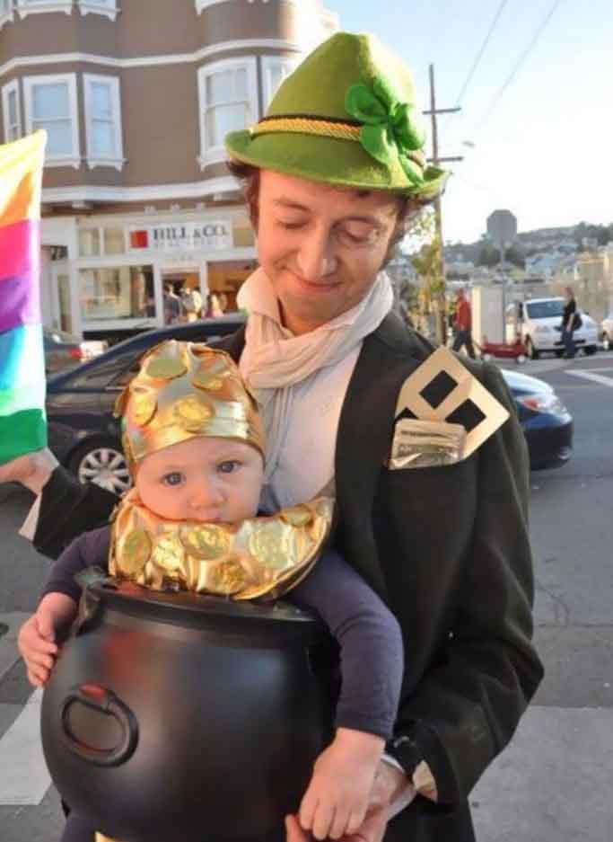леприкони и гърне със злато костюм