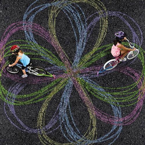 забавни следи от колело
