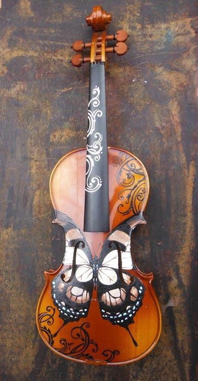 цигулка пеперуда - креатив