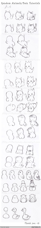 техника за рисуване на котка