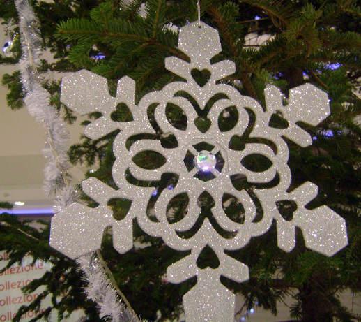 блестяща снежинка