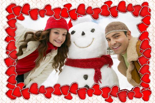 картички приятелство зима
