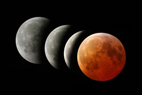 лунно затъмнение фази на луната