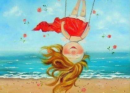 Дете, деца, щастие, море, пясък, игра, игри, люлка