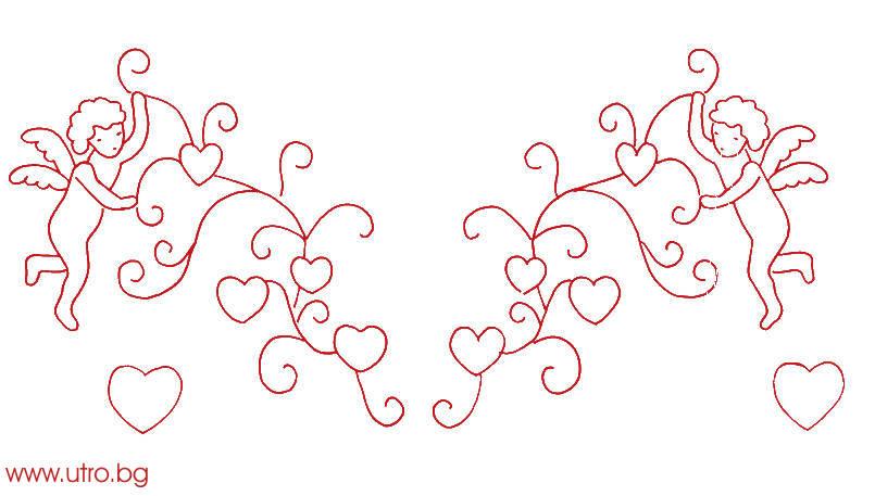 романтичен мотив за бродерия