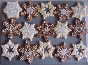 празнична украса на бисквити