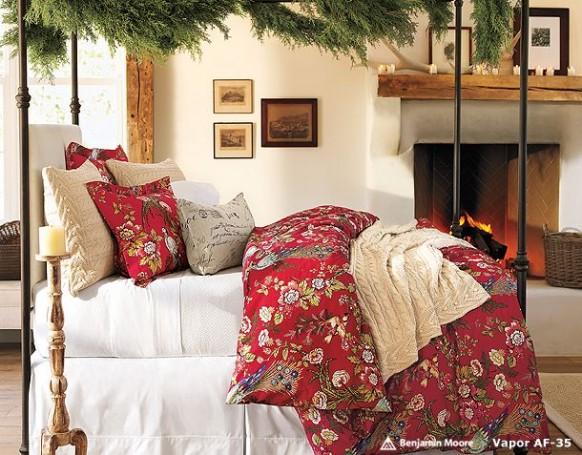 коледен декор в спалнята