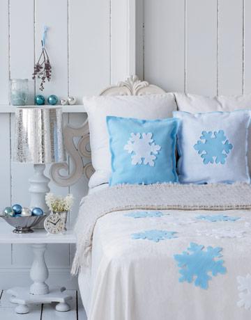 снежинки в спалнята
