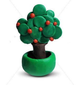 дърво от пластелин