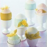 Декорация за яйца за Великден – нежни цветове