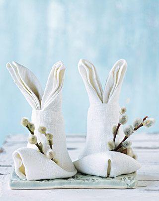 салфетка във форма на зайче