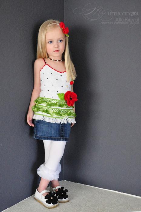 детска пролетна блузка