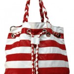 червено бяла чанта