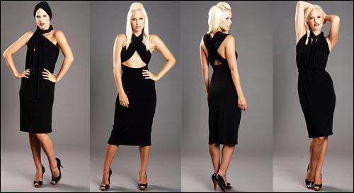 черна универсална рокля
