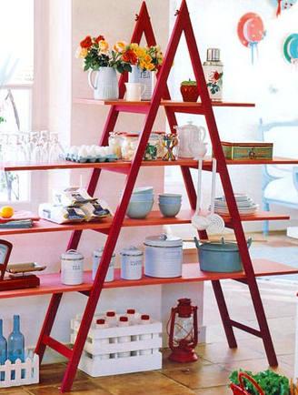 стълба в кухнята