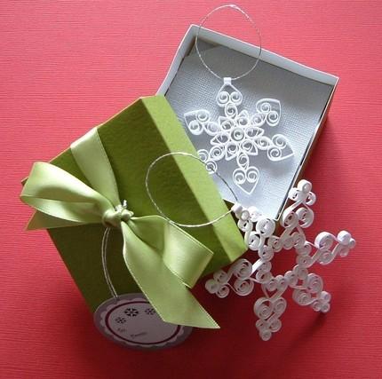 подарък снежинки