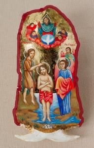 Икона върху череп от сом - Даниела Дочева – Кнежевич