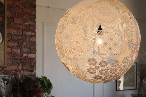 оригинални лампи - лампа от дантела