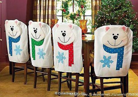 Коледна декорация на стол