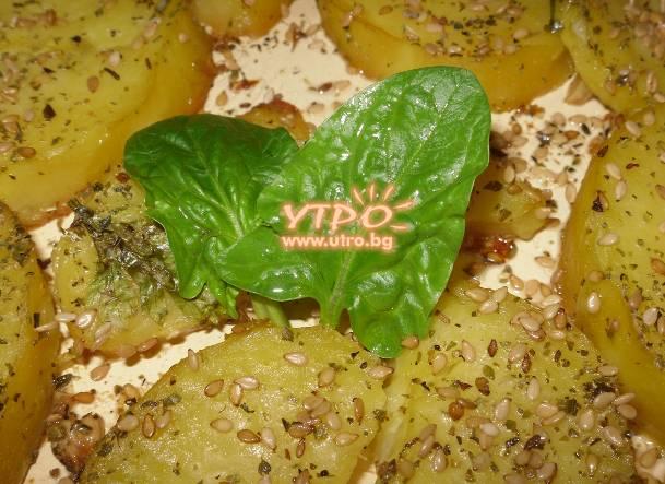 картофи със сусам