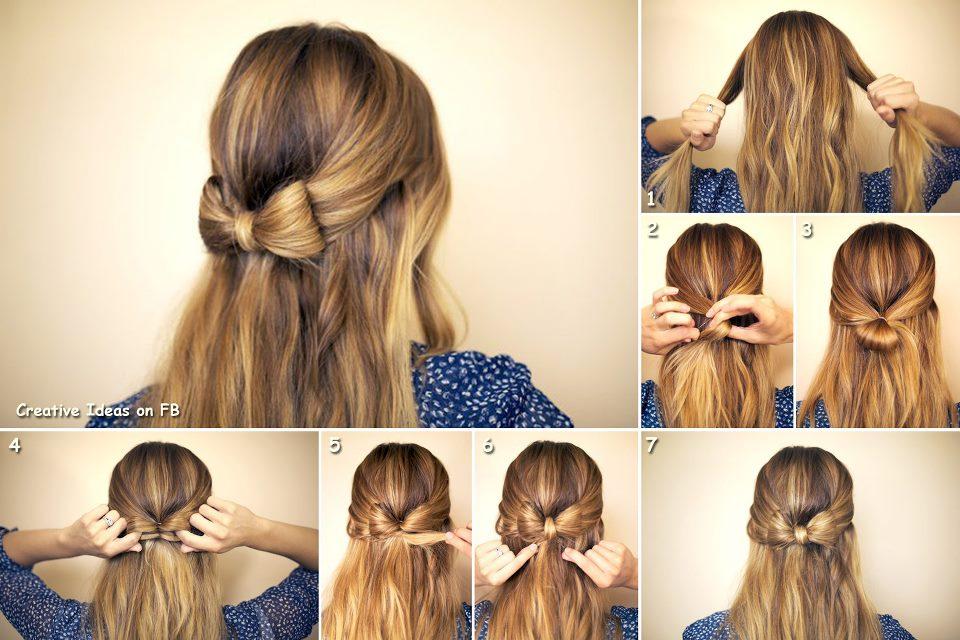 Красивые причёски для длинных волос лёгкие своими