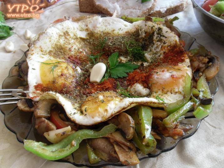 яйца със зеленчуци