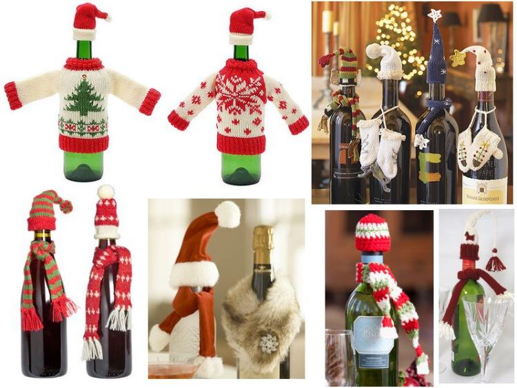 Коледна декорация на бутилки