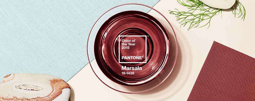 2015 моден цвят Марсала