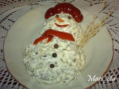 салата снежен човек