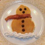 коледни палачинки снежен човек