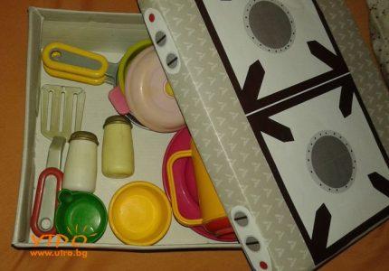 детски комплект за готвене котлон