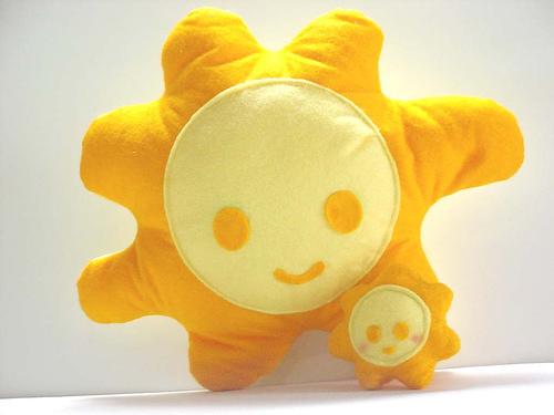 възглавница слънце
