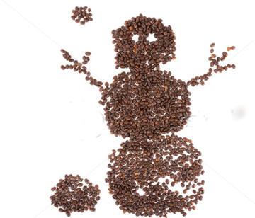 снежен човек кафе
