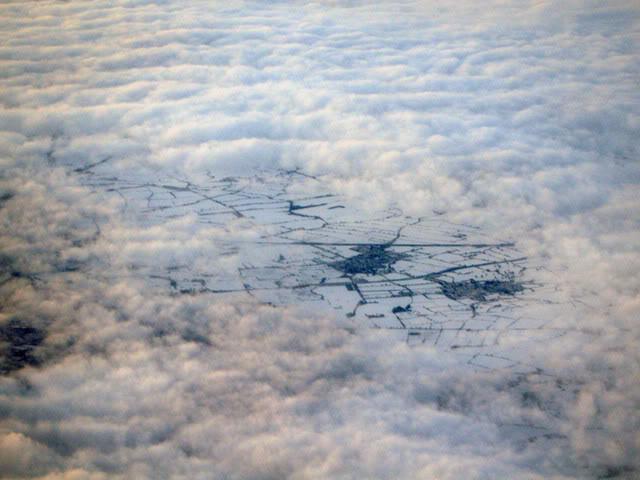 зима полет самолет