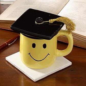 колеж, завършване, успешно, усмивка, настроение
