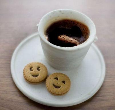 кафе с усмивка