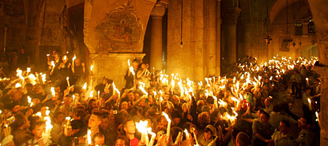Благодатния огън от Йерусалим