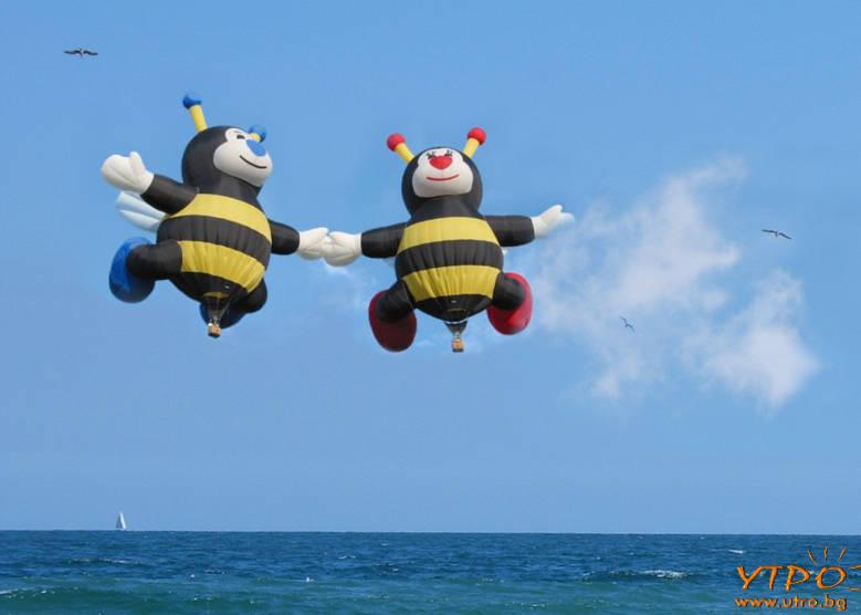 балони пчели над морето